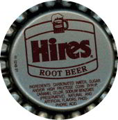 #BC017 - Group of 10 Plastic Lined Hires Root Beer Caps Picturing Mug