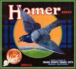 #ZLSH015 - Group of 12 Homer Sunkist Brand Orange Crate Labels