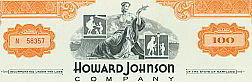 #ZZCE018 - Howard Johnson 100 Share Stock Certificate