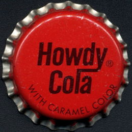 #BC189 - Group of 10 Howdy Cola Cork Lined Soda Bottle Caps