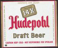 #ZLBE055 - Hudepohl 14-K Draft Beer Label