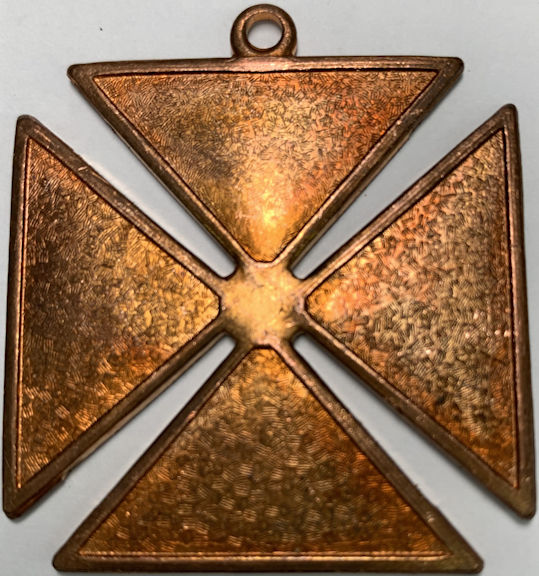 #BEADS0892 - Very Large Solid Copper Surfer Cross Pendant