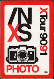 ##MUSICBP0130 - INXS Cloth Backstage Pass for the 1990/91 XTour