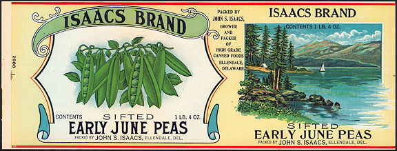 #ZLCA073 - Isaacs Early June Peas Can Label