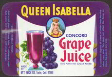 #ZBOT086- Queen Isabella Grape Juice Label