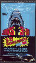 #ZZA166 - Pack of Jaws3-D Trading Cards with Viewer