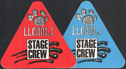 ##MUSICBP0725  - Pair of LL Cool J OTTO Cloth Stage/Crew Backstage Passes from the 1989/90 Nitro World Tour