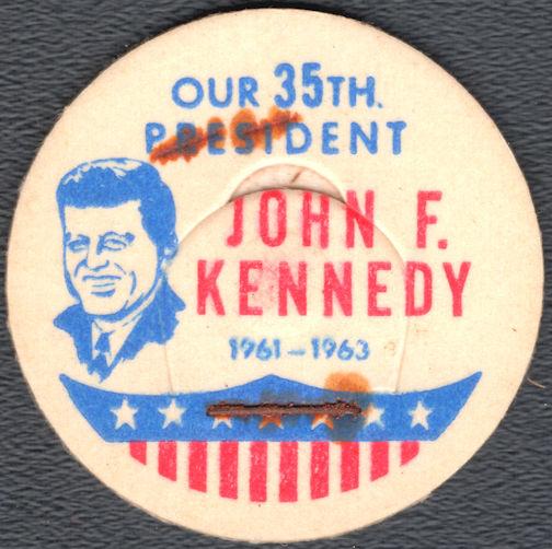 #DC225 - Scarce John F. Kennedy Milk Bottle Cap