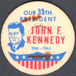 #DC225 - Scarce John F. Kennedy Milk Bottle Cap