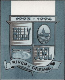 ##MUSICBP0516 - Billy Joel Perri Cloth Backstage Pass from the River of Dreams Tour