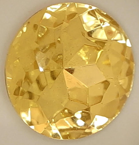 #BEADS0454 - Massive 21mm Light Yellow Colored Glass Rhinestone - As low as 50¢ each