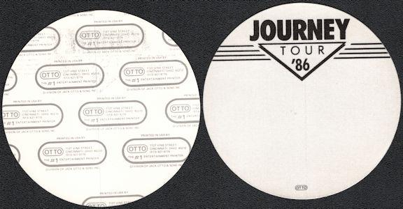 ##MUSICBP0566  - Round 1986  Journey Tour OTTO Cloth Backstage Pass