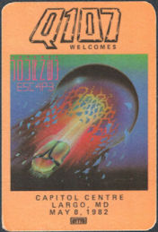 ##MUSICBP0757 - Journey OTTO Cloth Promotional Backstage Pass from the Concert at Largo, MD 1982