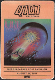 ##MUSICBP0626  - 1981  Journey Escape Tour Radio Promo OTTO Cloth Backstage Pass - Merriweather Post Pavilion