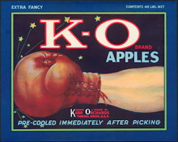 #ZLC106 - K-O Boxing Related Apple Crate Label