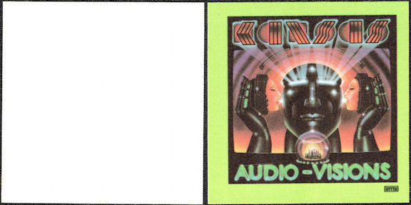 ##MUSICBP0034  - 1980 Kansas Cloth OTTO Backstage Pass from the Audio-Visions Tour