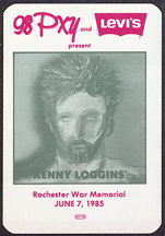 ##MUSICBP0033  - 1985 Kenny Loggins Radio Promo OTTO Backstage Pass - 98PXY - Levi Advertising