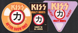 ##MUSICBP0512 - KISS OTTO Cloth Backstage Pass from the Crazy Nights Tour