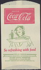 #CC184 - Coca Cola Dry Server with Lady Carrying a Tray with a Bottle of Coke
