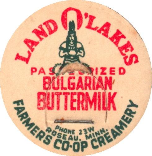 #DC187 - Land O' Lakes Bulgarian Buttermilk Milk Bottle Cap - Indian