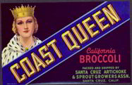 #ZLCA*043 - Coast Queen California Broccoli Label