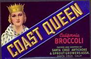 #ZLCA*043 - Coast Queen California Broccoli Label