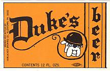 #ZLBE011 - Duke's Beer Label with Bulldog