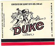 #ZLBE012 - Duke Beer Label - John Wayne
