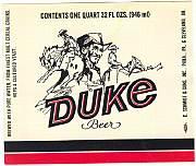 #ZLBE012 - Duke Beer Label - John Wayne