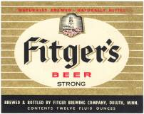 #ZLBE013 - Group of 10 Fitger's Beer Labels with Lighthouse