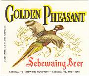 #ZLBE014 - Golden Pheasant Beer Label