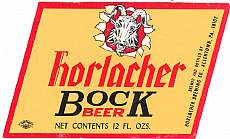 #ZLBE015 - Horlacher Bock Beer Label - Goat
