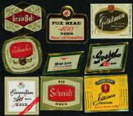 #ZLBE021 - Group of 9 Different Mini Beer Labels