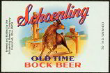#ZLBE028 - Schoenling Old Time Bock Beer Label