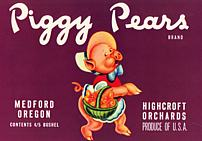 #ZLC046 - Piggy Pears Crate Label