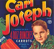 #ZLC052 - Carl Joseph Carrot Crate Label