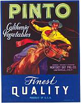 #ZLC054 - Pinto California Vegetables Crate Label