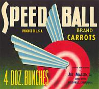 #ZLC055 - Speed Ball Carrots Crate Label