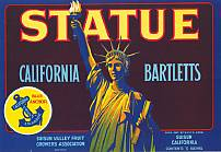 #ZLC056 - Statue California Bartletts Label