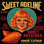 #ZLC063 - Sweet Adeline Sweet Potatoes Crate Label
