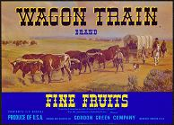 #ZLC066 - Wagon Train Fine  Fruits Crate Label - Blue