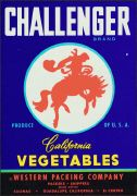 #ZLC073 - Challenger Vegetable Crate Label