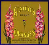 #ZLC074 - Gladiola Oranges Crate Label