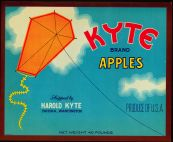 #ZLC076 - Kyte Brand Apple Crate Label