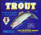 #ZLC078 - Trout Brand Apple Crate Label