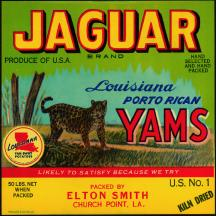 #ZLC085 - Jaguar Porto Rican Yam Crate Label