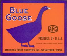 #ZLC092 - Blue Goose Apple Crate Label