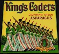 #ZLC097 - King's Cadets California Asparagus Crate Label