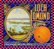 #ZLC100 - Loch Lomond Orange Crate Label