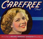#ZLC104 - Carefree Orange Crate Label - Covergirl